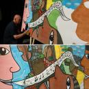 Louvroil- inauguration de l'espace culturel Jean Claude Casadesus - Fresque éphémère